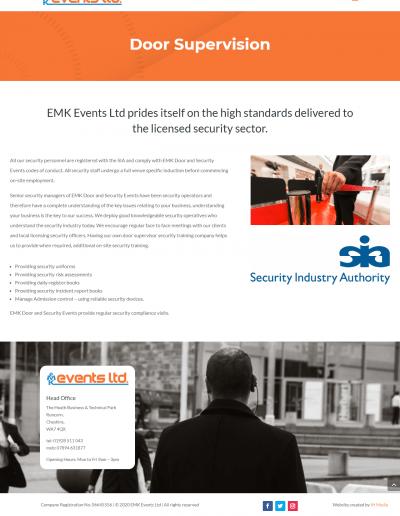 Door Supervision webpage